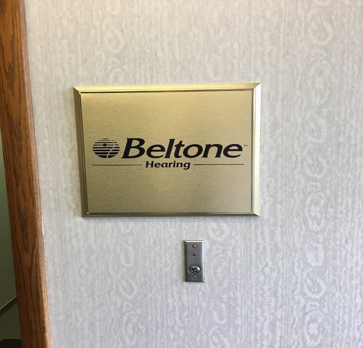 Beltone Hearing Aid plaque